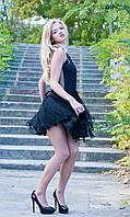 Красивое пышное платье  с сеткой на спине