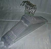 Прозрачная вешалка плечики для одежды 40 см