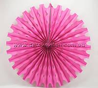 Подвесной веер, малиновый, 50 см - бумажный декор-розетка