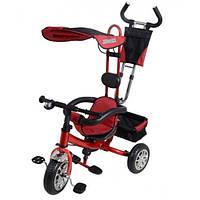 Велосипед трехколесный Super Trike VT1414 красный с пенорезиновыми колесами