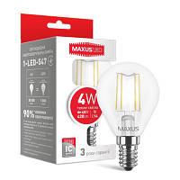 Декоративные лампочки е14 MAXUS (филамент) G45 4W нейтральный свет