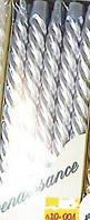 Свеча серебрянная спиральная декоративная 10шт