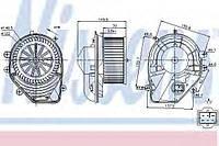 Вентилятор салона Audi, VW (производство Nissens ), код запчасти: 87060