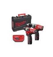 Набор аккумуляторного инструмента: шуруповерт ударный + электро-отвёртка m12 cid powerpack m12pp2a-202c fuel Milwaukee