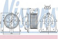 Вентилятор салона Audi, VW (производство Nissens ), код запчасти: 87022