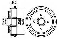 Барабан тормозной (производство Bosch ), код запчасти: 0986477149