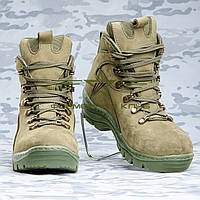 Ботинки зимние нубук олива