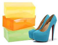 Пластиковые коробки для хранения обуви, набор 3 штуки, Класик (30х18,5х10см)
