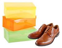 Пластиковые короба для мужской обуви Класик 3шт, M:(34х21х13см)
