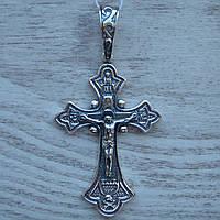 Серебряный крест с объемным распятием, 11 грамм