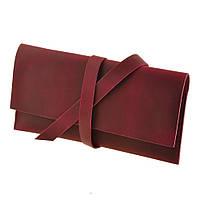 Кошелек кожаный для документов дорожный кейс виноград (ручная работа)
