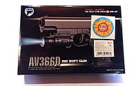 Пистолет пневматический на пульках 6мм +фонарик