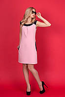 Молодежное платье с контрастной окантовкой на горловине