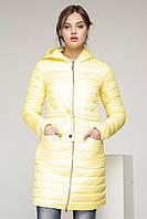 Модная молодежная стеганная удлиненная куртка-плащ (рр 42-50), разные цвета