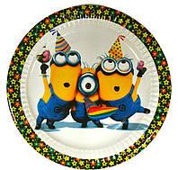 Тарелки Миньоны 10 шт. бумажные на День рождения в стиле Миньоны