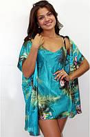 Халат и ночная сорочка комплект короткий р. 44-46