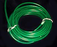 Гибкий неон—зеленый (электролюминесцентный шнур 3-го поколения 5.0 мм,(розница, опт)