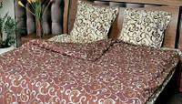 Полуторный комплект постельного белья (рисунок Абстракция шоколад)
