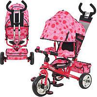 Детский трехколесный велосипед розовый М 5363 Profi Turbo Trike (М 5363-8-1)