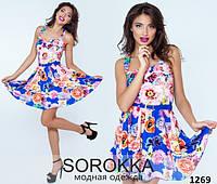Платье женское с цветочным принтом