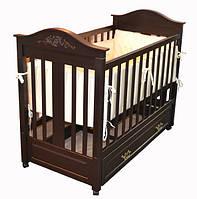 """Дитяче ліжко-колиска """"LEONARDO"""" (Шоколад)"""