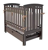 """Дитяче ліжко-колиска """"Міа"""" (Шоколад)"""