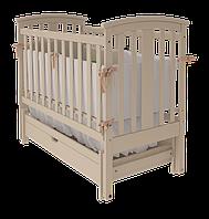 """Дитяче ліжко-колиска """"Міа"""" (Слонова кістка)"""