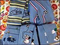Детские колготы Дюна демисезонные с рисунком ГОЛУБЫЕ ( от 0 до 12 лет)
