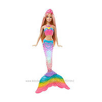 Кукла радужная русалочка Барби яркие огоньки