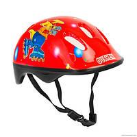 Детский защитный шлем Oushen код 466-121 для велосипедов роликов самокатов беговелов Красный