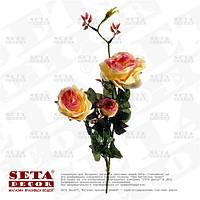Искусственная ветка Розы ( 3 цветка на ветке)