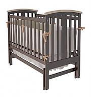 """Дитяче ліжко-колиска """"Міа"""" (Шоколад + слонова кістка)"""