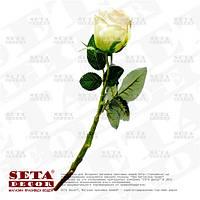 Роза в бутоне цвета айвори (цветок розы) на ветке искусственная