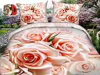 Полуторный набор постельный (рисунок Роза красивая)