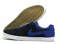 Кеды мужские Nike черные с синим (найк)