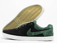 Кеды мужские Nike черные с зеленым (найк)
