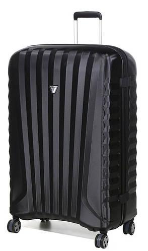 Пластиковый 4-колесный большой чемодан 113 л. Roncato UNO ZSL Premium 5167/01/01 черный