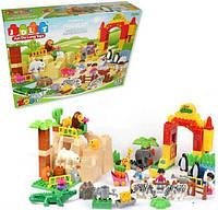Детский конструктор Счастливый зоопарк с фигурками зверей