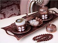 Набор чашек для кофе  Бронзовый цветок на 2 персоны