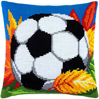 """Набор для вышивания нитками """"Подушка """"Футбольный мяч"""""""