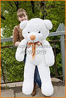 Большие мягкие игрушки - белый плюшевый мишка 120 см