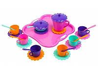 Набор игрушечной посуды Ромашка с подносом 26 элементов Тигрес 39093