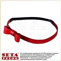 Красная повязка-резинка Бантик для волос на голову