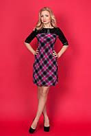 Женское платье в клетку № 910-2  (Б.О.Д.) размеры:42,44,46,48,50