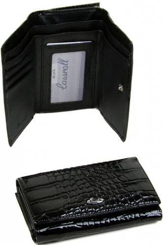 Удивительный женский кошелек Cossrol искусственная кожа WD-6 black