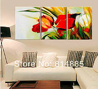 Яркая модульная картина «Тюльпаны»