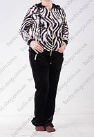 Женский велюровый спортивный костюм с капюшоном