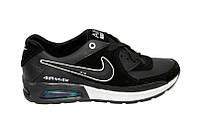 РАСПРОДАЖА ПО ОПТОВЫМ ЦЕНАМ - Кроссовки КОЖАННЫЕ мужские Nike Air Max Black