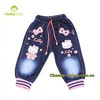 Красивые джинсы на девочку Kitty