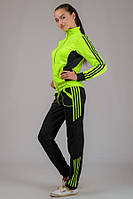 Женский молодежный спортивный костюм кислотных расцветок салатовый, XL